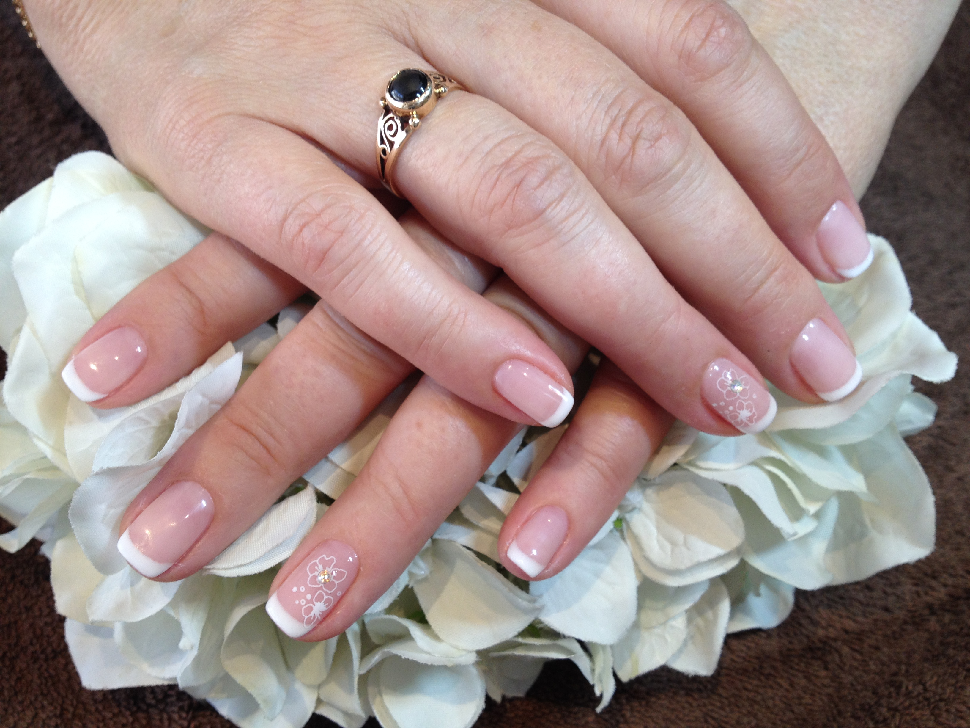 French manicure with butterflies.JPG