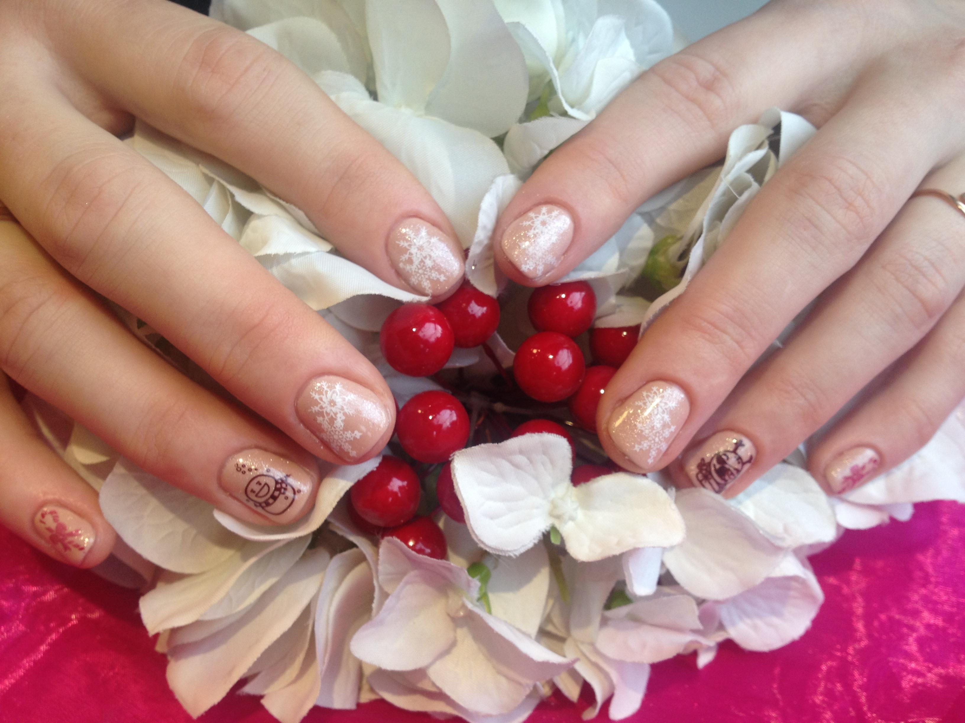 Gel polish and Konad stamping nail art