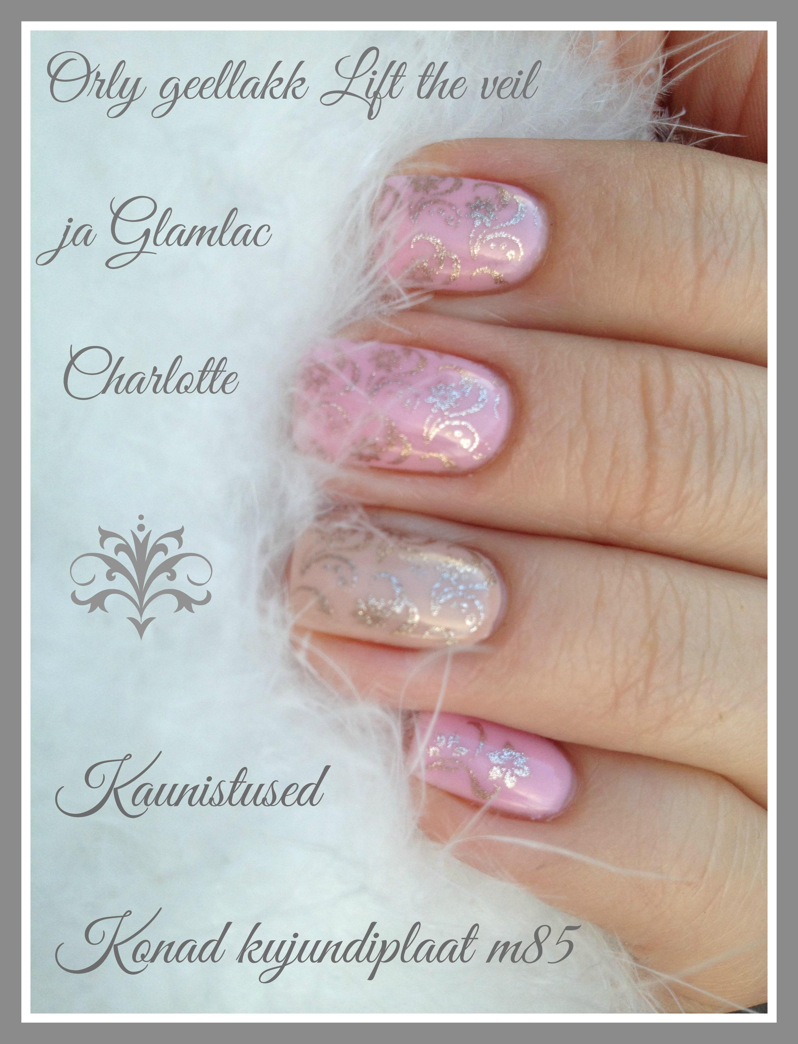 Pink gel polish manicure with Konad M85 .jpg